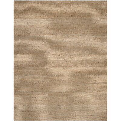 Gilchrist Hand-Woven Beige Area Rug Rug Size: Round 6