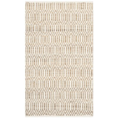 Gilchrist Hand-Woven Natural Area Rug Rug Size: 10 X 14