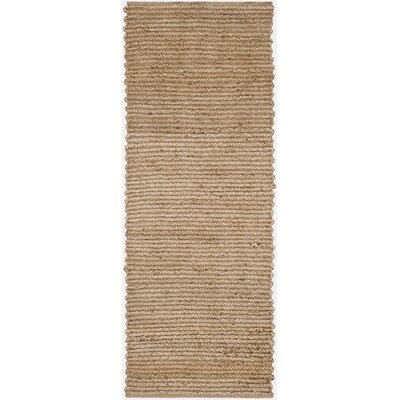 Gilchrist Hand-Woven Brown Area Rug Rug Size: Runner 23 x 6