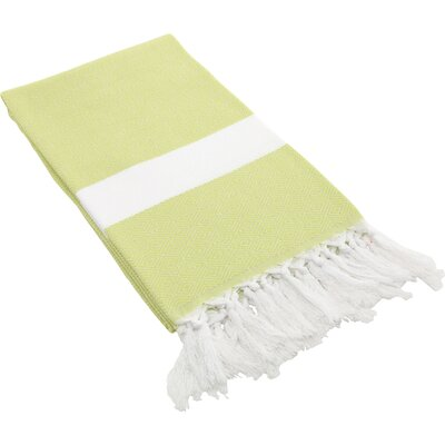 Lauderdale Diamond Weave Beach Towel Color: Green