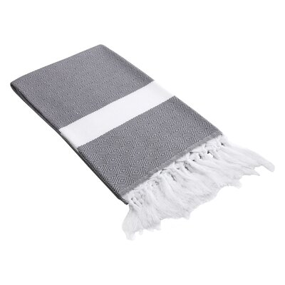 Lauderdale Diamond Weave Beach Towel Color: Grey