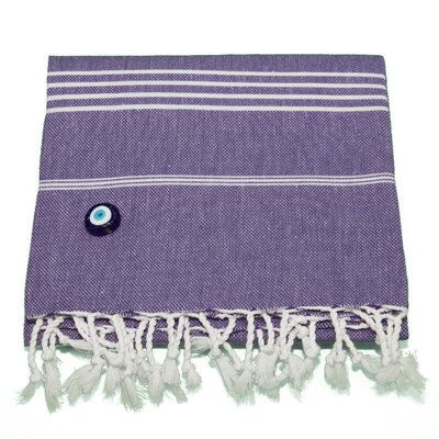 Rische 100% Turkish Cotton Pestemal/Fouta Beach Towel Color: Purple