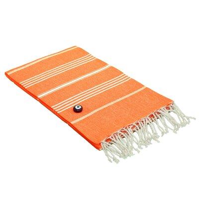 100% Turkish Cotton Pestemal/Fouta Beach Towel Color: Dark Orange