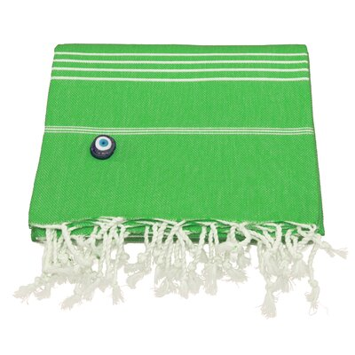 Rische 100% Turkish Cotton Pestemal/Fouta Beach Towel Color: Emerald Green
