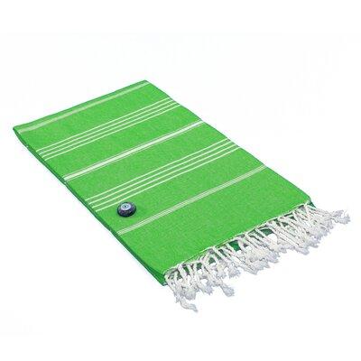 100% Turkish Cotton Pestemal/Fouta Beach Towel Color: Emerald Green
