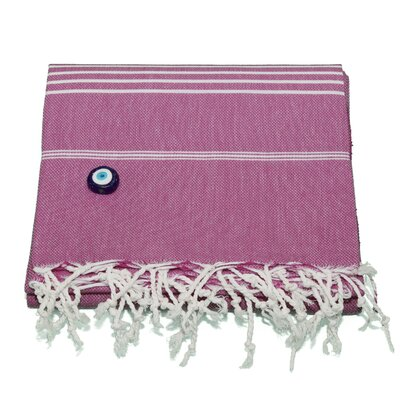 Rische 100% Turkish Cotton Pestemal/Fouta Beach Towel Color: Red Violet