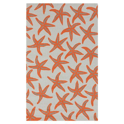 Solana Hand-Woven Orange Indoor/Outdoor Area Rug Rug Size: Rectangle 5 x 8