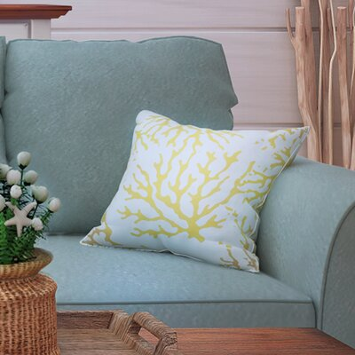 Calburn Indoor/Outdoor Throw Pillow Size: 16 H x 16 W x 4 D, Color: Yellow