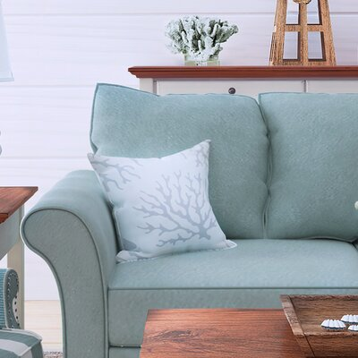 Calburn Indoor/Outdoor Throw Pillow Size: 20 H x 20 W x 4 D, Color: Light Gray