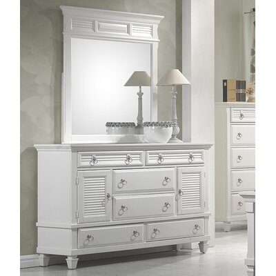 Norfolk 6 Drawer Combo Dresser with Mirror