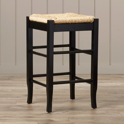 Hogan 24 Bar Stool with Cushion Finish: Black