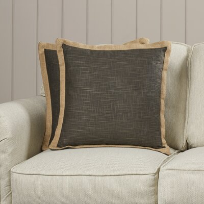 Arvie Linen Throw Pillow Size: 22 H x 22 W, Color: Burnt Orange