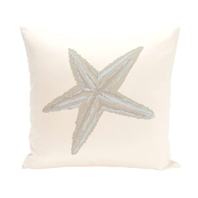 Rajashri Square Throw Pillow Color: Bahama Blue / Taupe, Size: 18 H x 18 W
