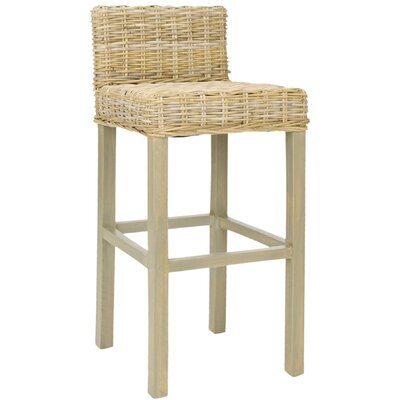 Gonzalez 29.5 Bar Stool Finish: Antique Gray
