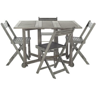 Laoise Gardens 5 Piece Dining Set Finish: Grey Wash