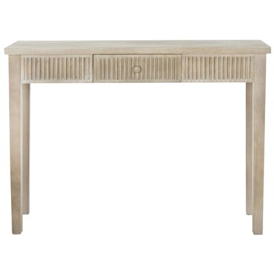 Calixta Contemporary Console Table Color: Grey
