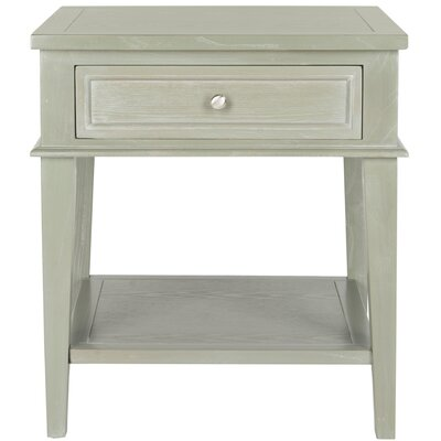 Emerson 1 Drawer End Table Color: Ash Grey