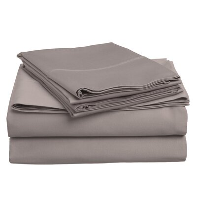 Surratt 500 Thread Count 100% Cotton Sheet Set Color: Grey, Size: Full