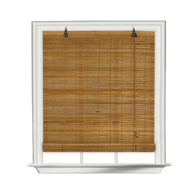 Bamboo Roll-Up Blind Size: 30 W x 72 L, Color: Spice