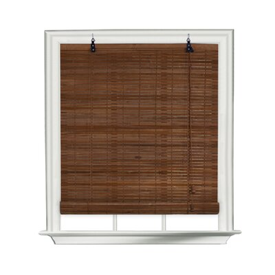Bamboo Roll-Up Blind Size: 30 W x 72 L, Color: Cocoa