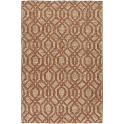 Palmetto Bay Hand Woven Brown/Beige Area Rug Rug Size: 33 x 53