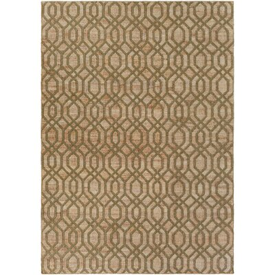 Cheyney Hand Woven Green/Beige Area Rug Rug Size: Rectangle 8 x 11