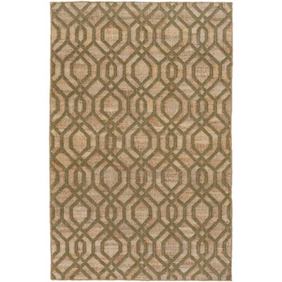 Palmetto Bay Hand Woven Green/Beige Area Rug Rug Size: 2 x 3