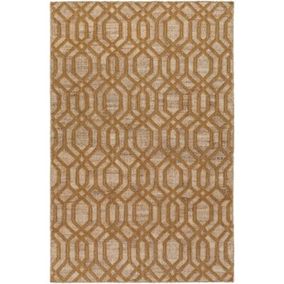 Palmetto Bay Hand Woven Beige/Brown Area Rug Rug Size: 8 x 11
