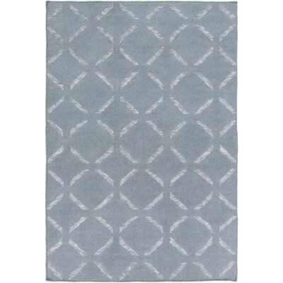 Chesterton Hand Woven Blue Area Rug Rug Size: Rectangle 6 x 9