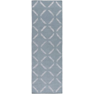 Midway Hand Woven Blue Area Rug Rug Size: Runner 26 x 8