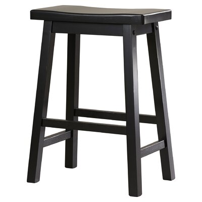 Kirkwood 24 Bar Stool Finish: Black
