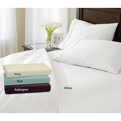Valmir 500 Thread Count Sheet Set Size: King, Color: Ivory