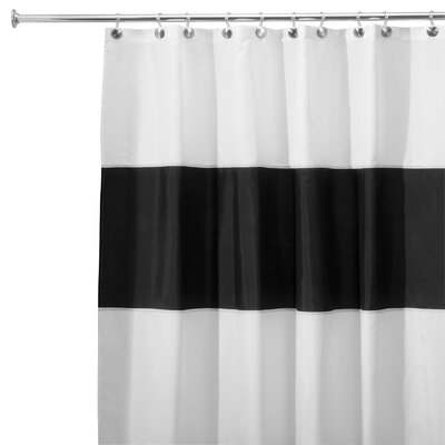 Zeno Shower Curtain Color: Black / White