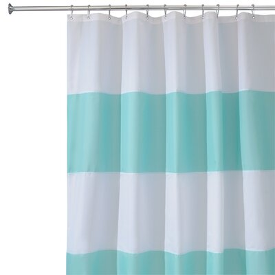 Zeno Shower Curtain Color: Blue / White