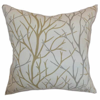 Highland City Cotton Throw Pillow Color: Toffee, Size: 22 x 22
