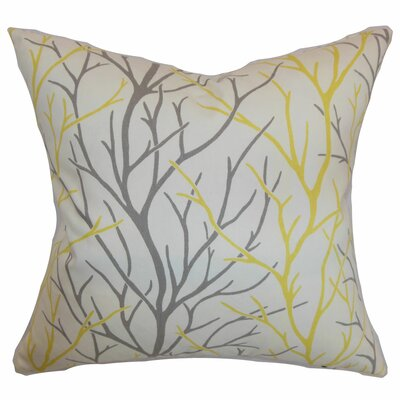 Eureka 100% Cotton Throw Pillow Color: Canary, Size: 18x18