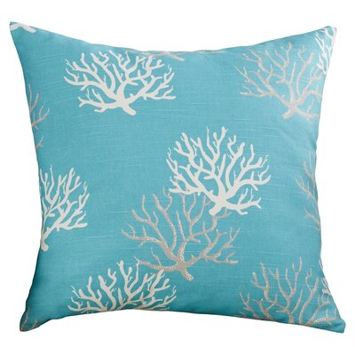 Tamarac 100% Cotton Throw Pillow Color: Blue, Size: 18 H x 18 W