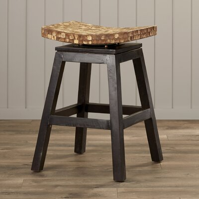 Carol City 24 Swivel Bar Stool Finish: Natural Bliss