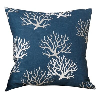 Tamarac 100% Cotton Throw Pillow Color: Navy Blue, Size: 18 H x 18 W