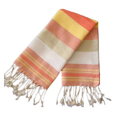 Fouta Honeycomb Weave Bath Towel (Set of 2) Color: Sunny