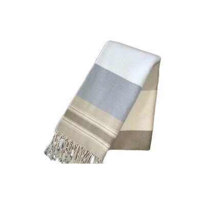 Fouta Honeycomb Weave Bath Towel (Set of 2) Color: White