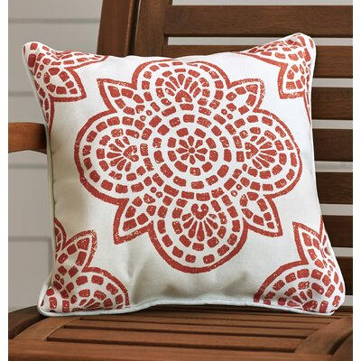 Beechwood Outdoor Throw Pillow Size: 16 H x 16 W, Color: Burnt Orange