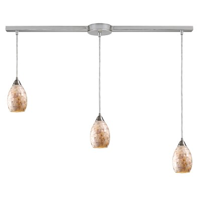 Roehampton 3-Light Kitchen Island Pendant in Satin Nickle