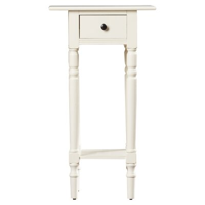 Amityville End Table With Storage� Color: Distressed Cream