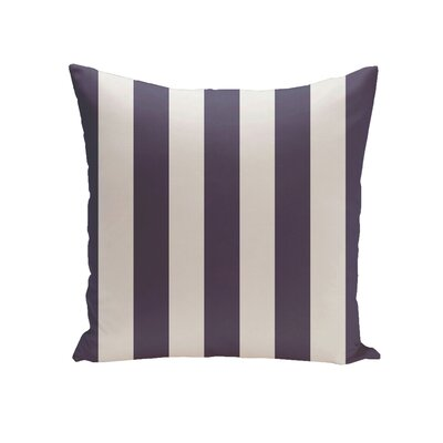 Rocio Stripe Throw Pillow Color: Spring Navy, Size: 26 H x 26 W