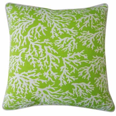 Portage Outdoor Throw Pillow Color: Green