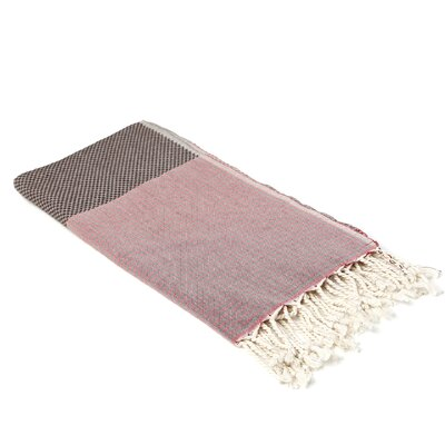 Aegean Cotton Bath Towel Color: Maroon / Chocolate
