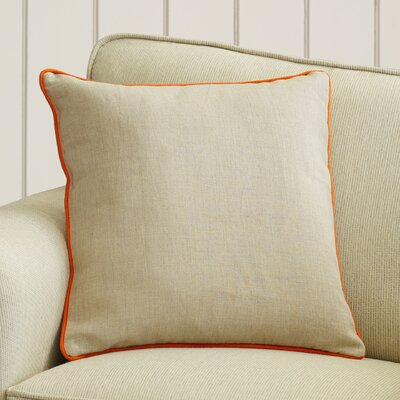 Franklin Linen Throw Pillow Color: Orange, Size: 22, Filler: Down