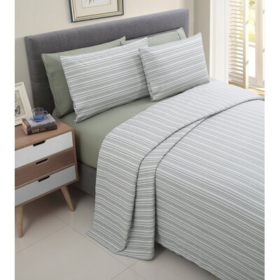 Millside 200 Thread Count Cotton Sheet Set Color: Sage, Size: King