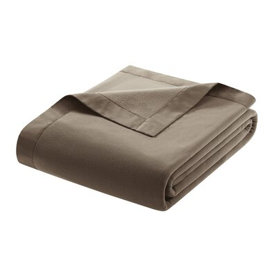 Oceanview Micro Fleece Throw Blanket Size: Twin, Color: Mink